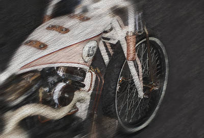 Captured Rain Painting - Classic Harley Davidson by Jack Zulli