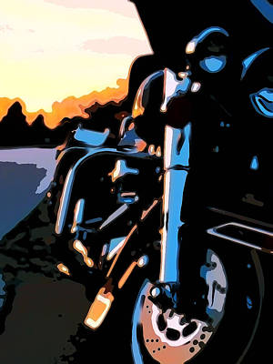 Harley Davidson Motorcycle Painting - Classic Harley by Michael Pickett