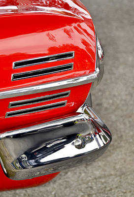 Red Street Rod Photograph - Classic Impala In Red by Carolyn Marshall