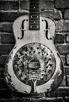 Guitar Photograph - Classic In Black And White by Heather Applegate