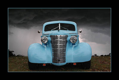 Print featuring the photograph Classic In Blue by Keith Hawley
