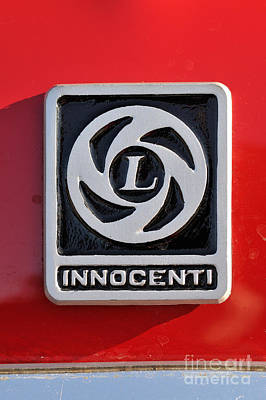 Badges Photograph - Classic Innocenti Badge by George Atsametakis