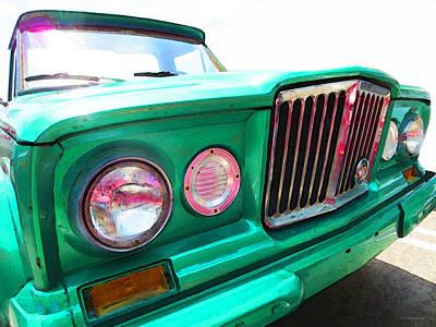 Truck Mixed Media - Classic Jeep J3000 4 Wheel Drive By Sharon Cummings by Sharon Cummings