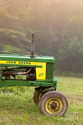 New Hampshire Landscape Photograph - Classic John Deere 520 Tractor by Edward Fielding