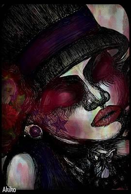 Classic Lady Art Print by Akiko Okabe