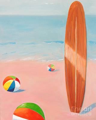 Classic Longboard With Beach Balls Original