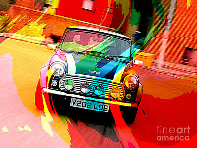 Classic Mini Cooper Print by Marvin Blaine