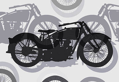 Classic Motorcycle  Art Print by Daniel Hagerman