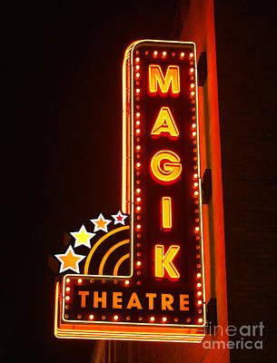 Photograph - Classic Movie Theater Marquee Americana San Antonio Texas by Shawn O'Brien