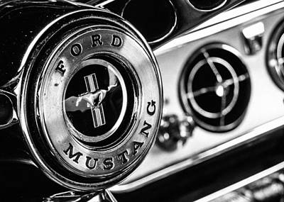 Vintage Auto Photograph - Classic Mustang Interior Detail by Jon Woodhams