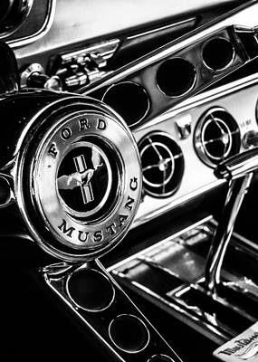 Antique Car Photograph - Classic Mustang Interior by Jon Woodhams