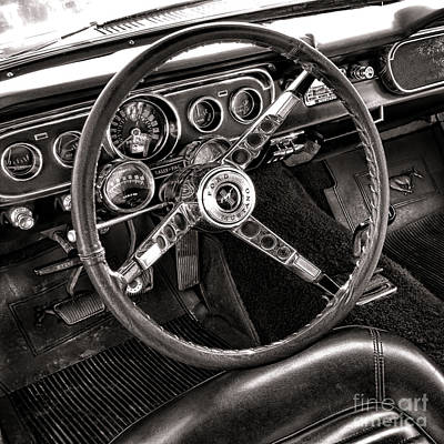 Classic Mustang Art Print by Olivier Le Queinec