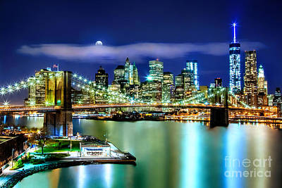 Skylines Royalty-Free and Rights-Managed Images - Classic New York Skyline by Az Jackson