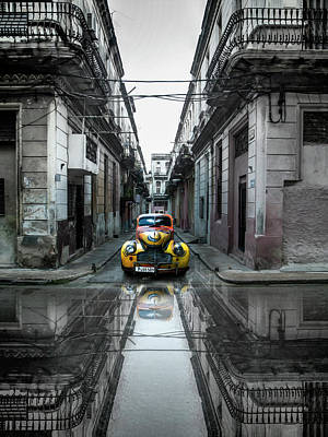 Classic Old Car In Havana, Cuba Art Print