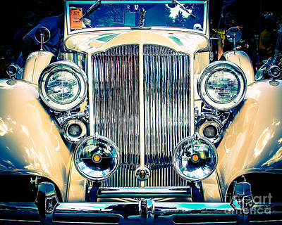Station Wagon Digital Art - Classic Old Car by Perry Webster