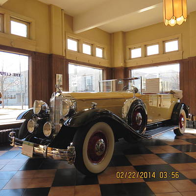 Classic Packard In Showroom Art Print