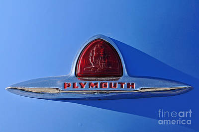 Plymouth Photograph - Classic Plymouth Badge by George Atsametakis