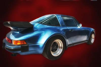 Art Print featuring the photograph Classic Porsche ... by Chuck Caramella