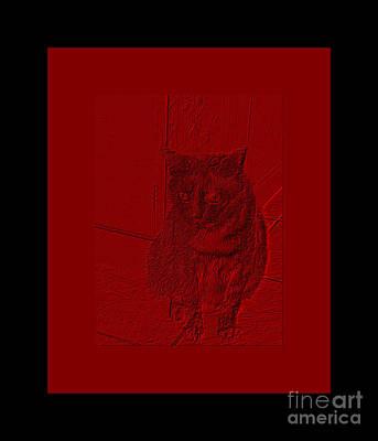 Digital Art - Classic Red And Black by Oksana Semenchenko