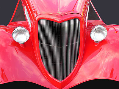 Photograph - Classic Red Ford Coupe by John Orsbun