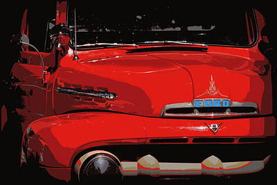 Photograph - Classic Red Ford Truck 1 by Sheri McLeroy