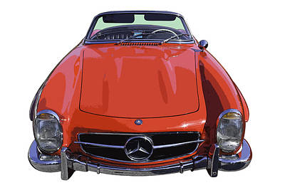 Photograph - Classic Red Mercedes Benz 300 Sl Convertible Sportscar  by Keith Webber Jr