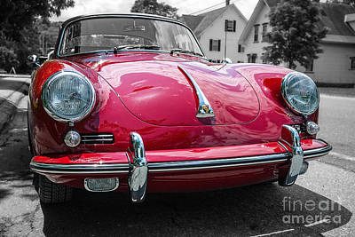 Isolation Photograph - Classic Red Sports Car by Edward Fielding