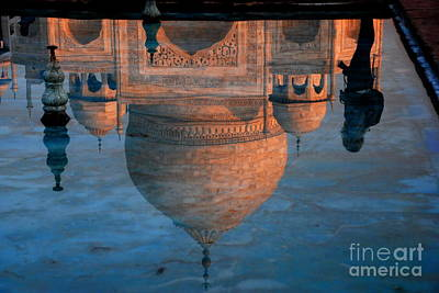 Photograph - Wanderer Viewing The Taj by Jacqueline M Lewis