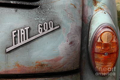 Photograph - Classic Retro Fiat 600 5d25286 by Wingsdomain Art and Photography