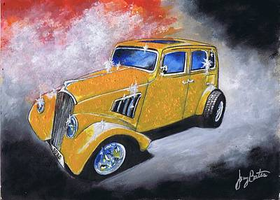 Painting - Classic Ride by Jerry Bates