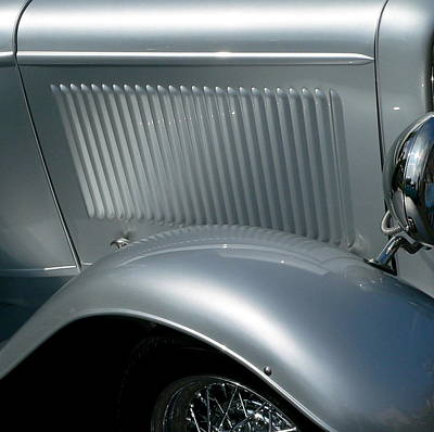 Photograph - Classic Roadster Silver by Jeff Lowe