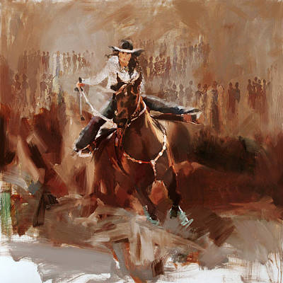 Chicago Oil Painting - Classic Rodeo 1 by Maryam Mughal