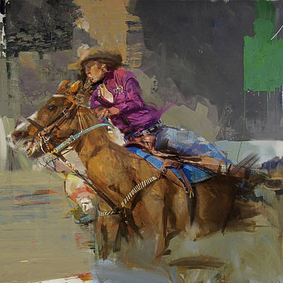Painting - Classic Rodeo 3b by Maryam Mughal