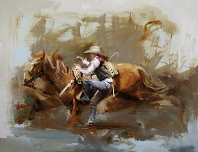 Chicago Oil Painting - Classic Rodeo 5 by Maryam Mughal