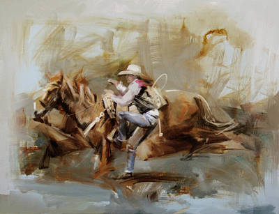 Painting - Classic Rodeo 5b by Maryam Mughal