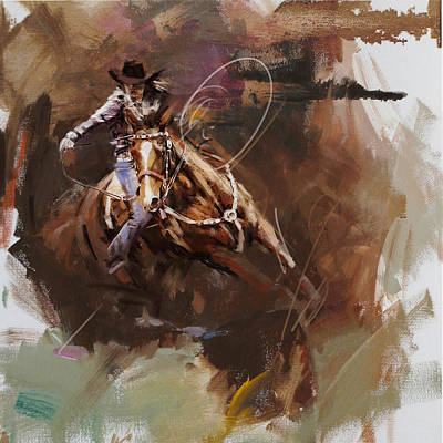 Chicago Oil Painting - Classic Rodeo 8 by Maryam Mughal