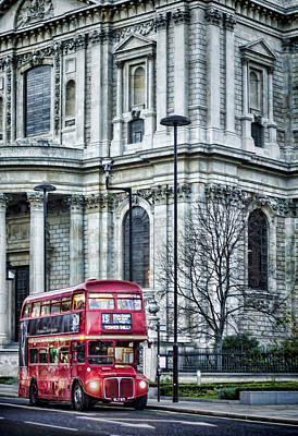 Photograph - Classic Routemaster by Heather Applegate
