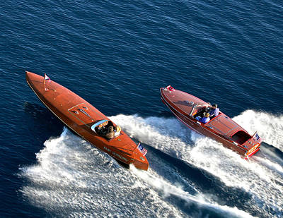 Photograph - Classic Speedboats by Steven Lapkin
