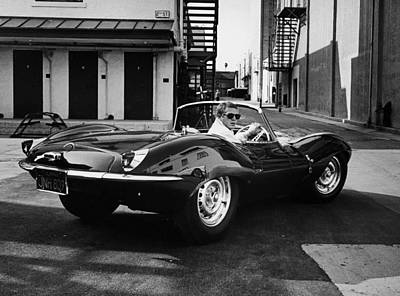 Jaguar Digital Art - Classic Steve Mcqueen Photo by Georgia Fowler