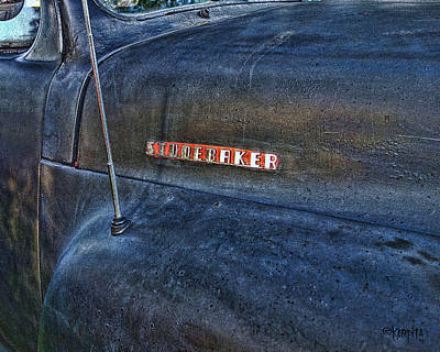 Photograph - Classic Studebaker Truck - Forties Fifties Old Car by Rebecca Korpita