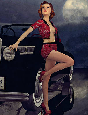 Painting - Classic Style Pin-up by Maynard Ellis