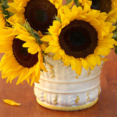 Classic Sunflowers Art Print by Art Block Collections