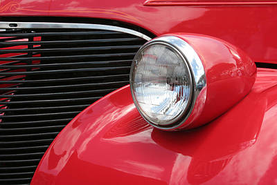 Photograph - Classic Thirties Red Ford by John Orsbun