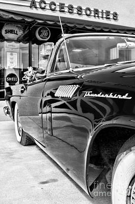 Photograph - Classic Thunderbird Bw by Lawrence Burry