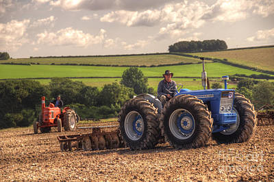 Monster Truck Photograph - Classic Tractors At Work  by Rob Hawkins