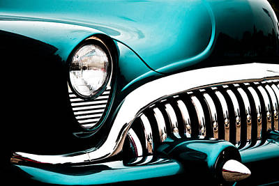 Photograph - Classic Turquoise Buick by Joann Copeland-Paul