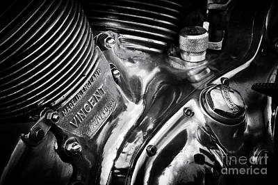 Photograph - Classic Vincent Engine by Tim Gainey