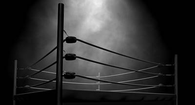Ring Digital Art - Classic Vintage Boxing Ring by Allan Swart