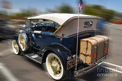 Photograph - Classic Vintage Shiny 1931 Ford Model A Convertible Car by Jerry Cowart