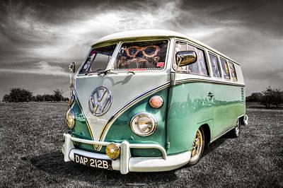 Classic Vw Camper Van Art Print by Ian Hufton